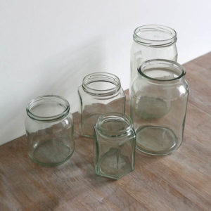 prop hire wedding jars