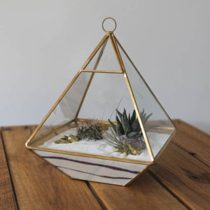 geometric terrarium wedding prop hire