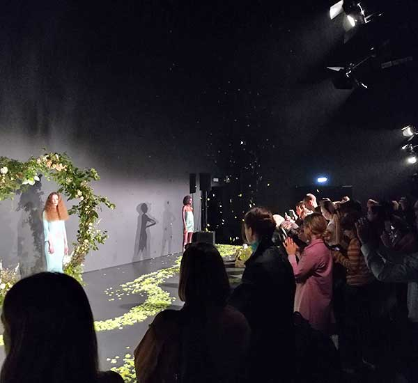 flower arch and floral styling london fashion week