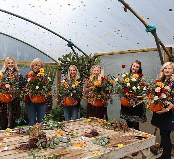 workshop floral pumpkins norfolk suffolk