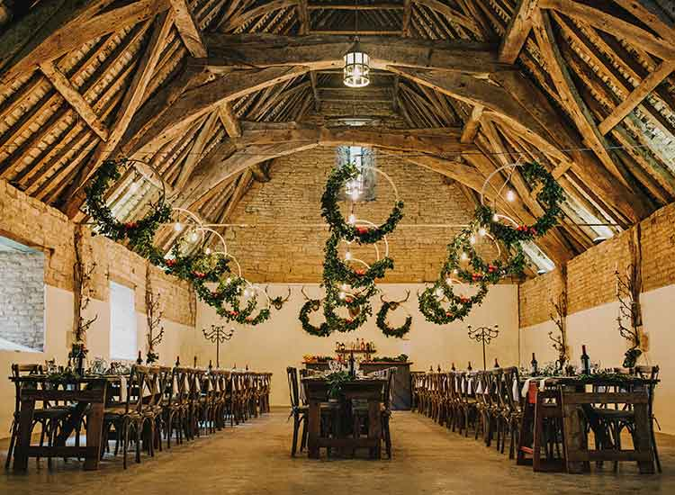 Norfolk florist barn styling