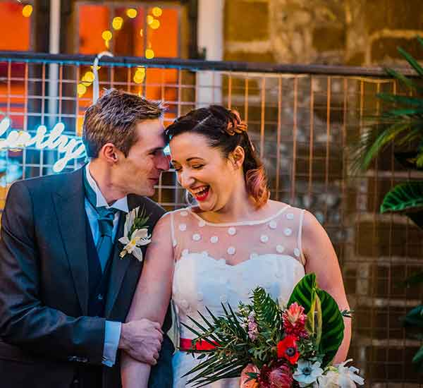 Colourful botanical wedding in Norfolk