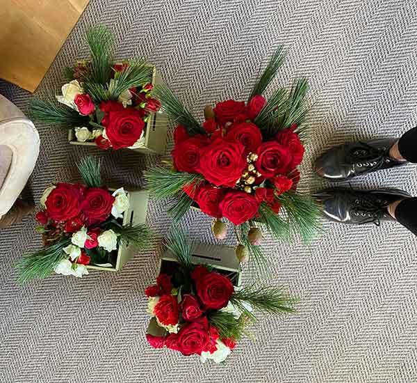 modern wedding flowers norfolk
