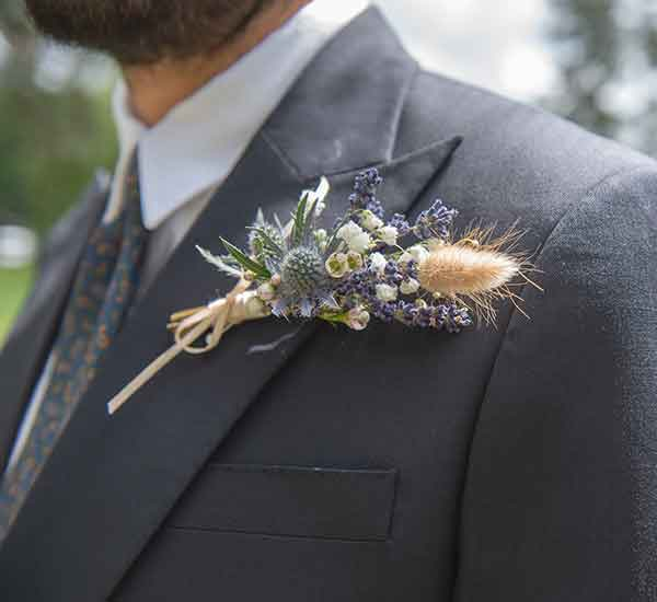 dried lavender buttonhole