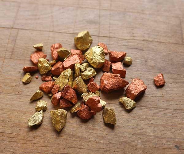 metallic stones terrarium