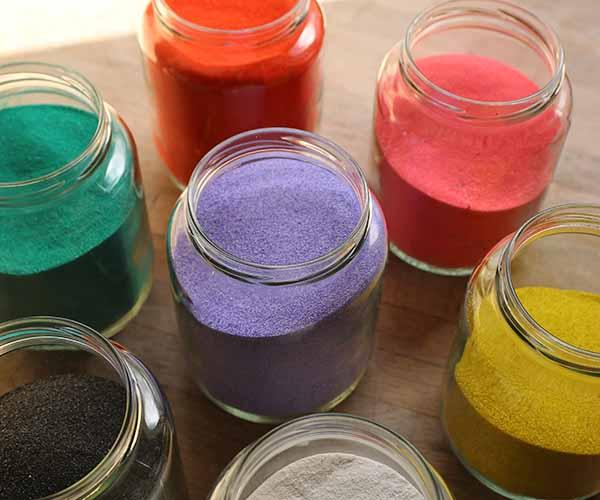 coloured sand