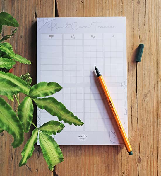 house plant care tracker
