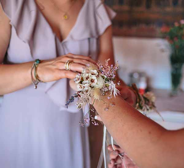 wedding corsage dried flowers